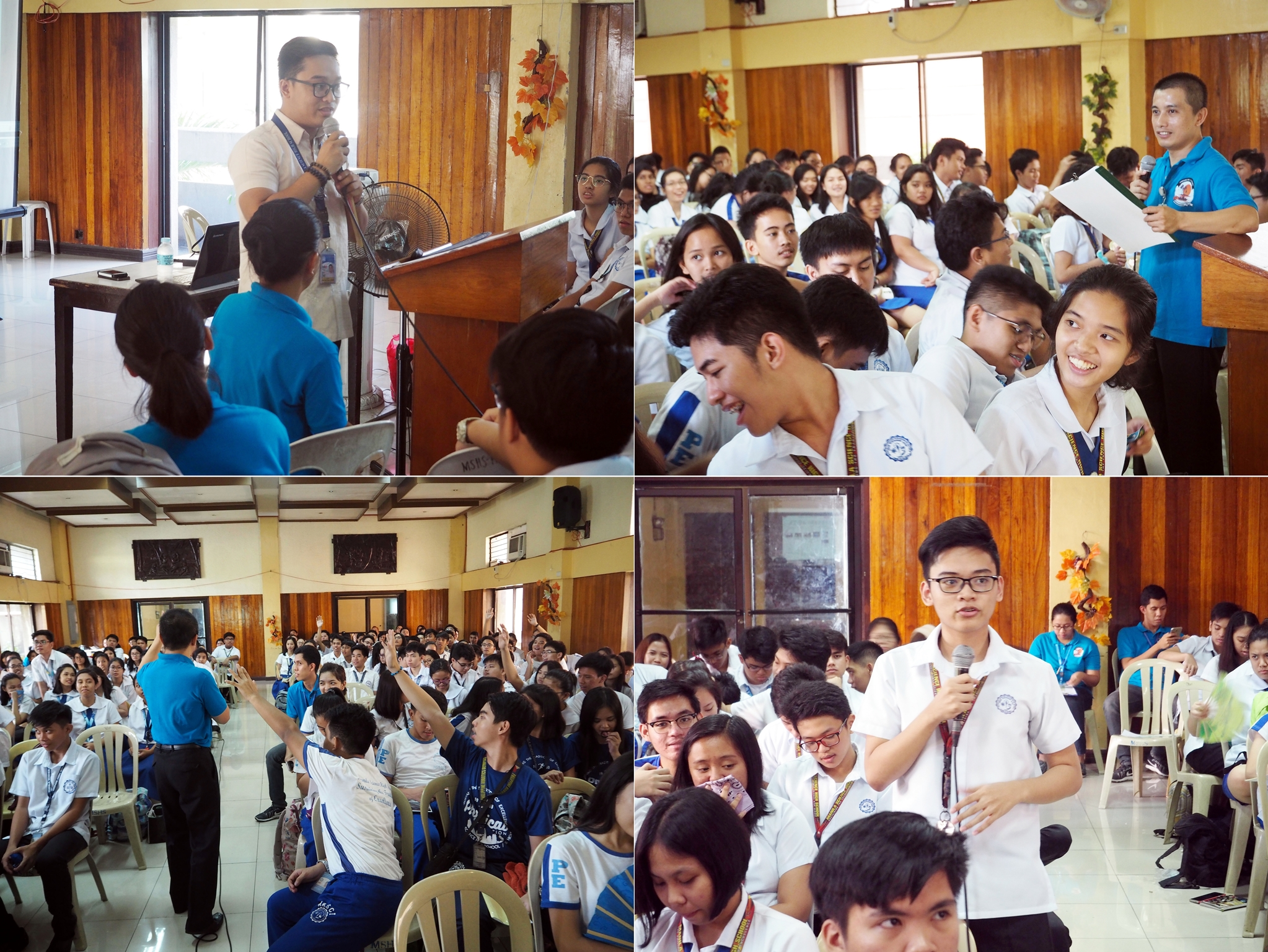 Open forum at the IEC campaign in Manila Science High School