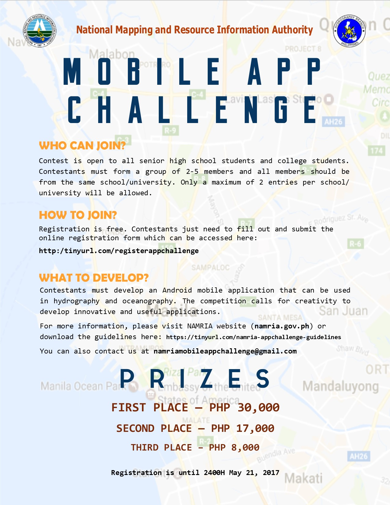 Hydrography Branch challenges Android app developers