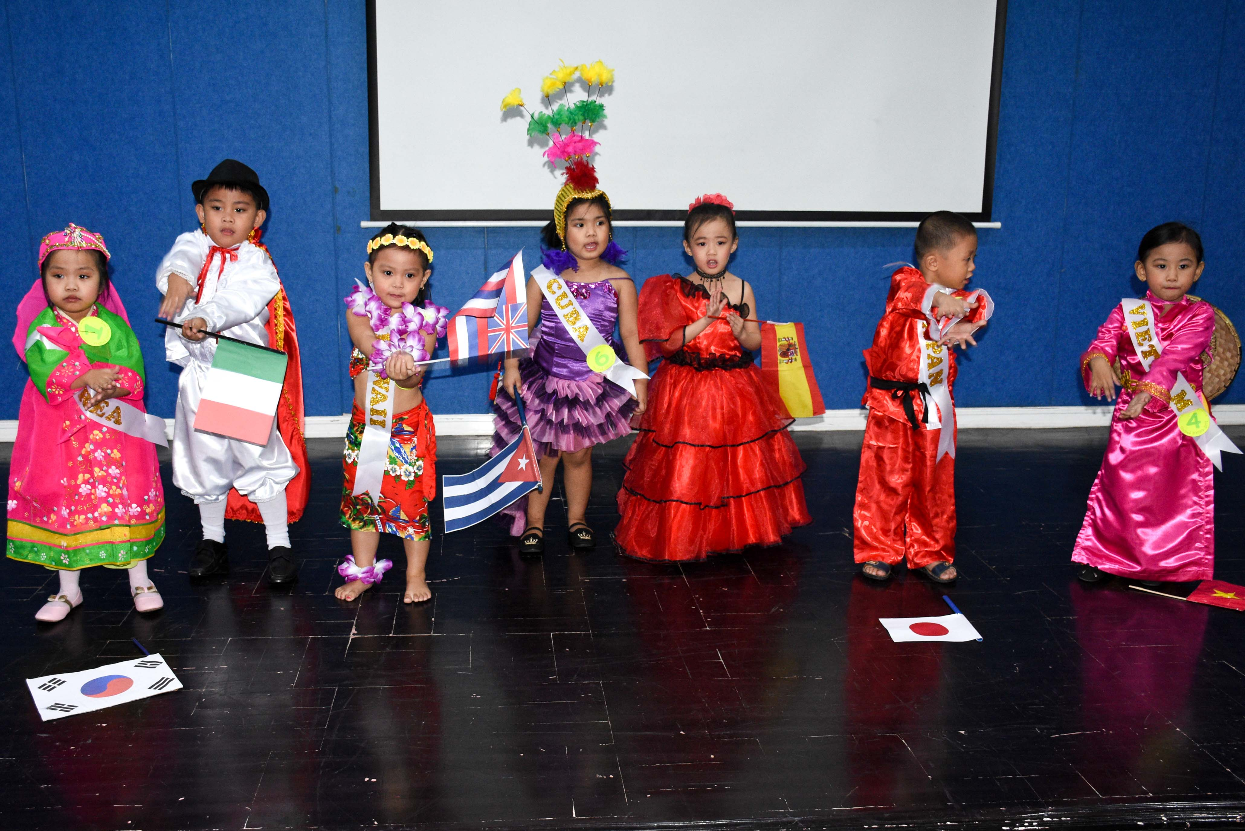 NDCC kids with with their national costumes , Andy Nicolas G. Adeva