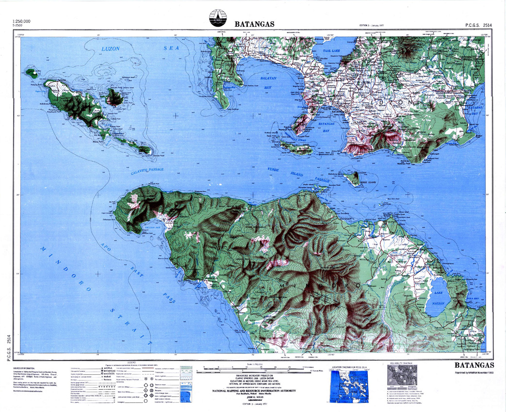Namria The Central Mapping Agency Of The Government Of The Philippines - Us-geodetic-maps
